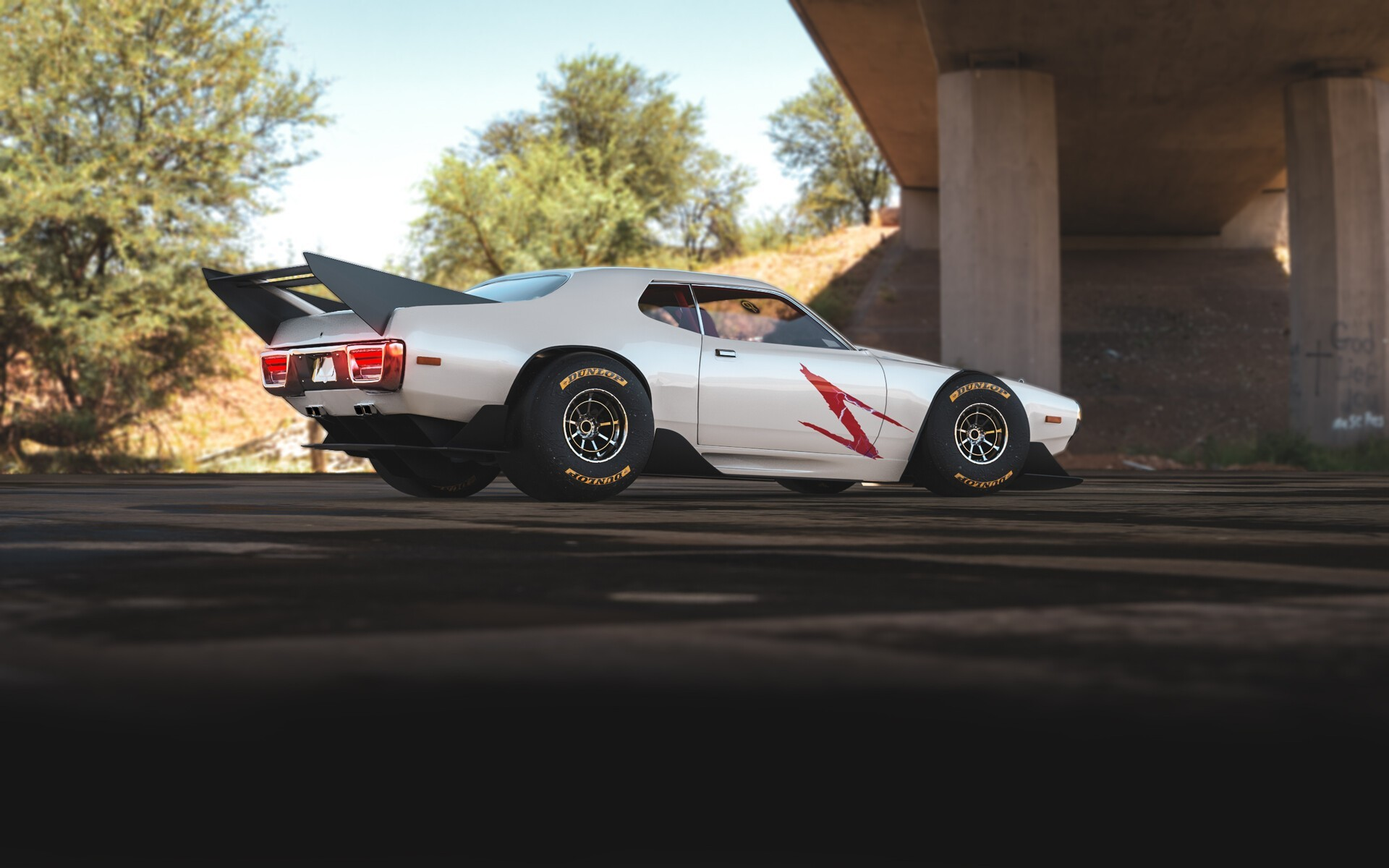 Plymouth gtx speed racer looks like an f1 muscle car 4