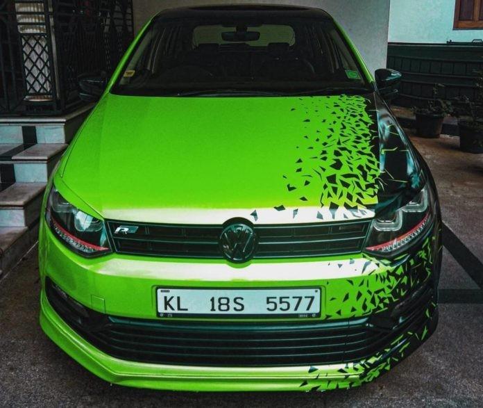 Volkswagen Polo, which wears a custom wrap