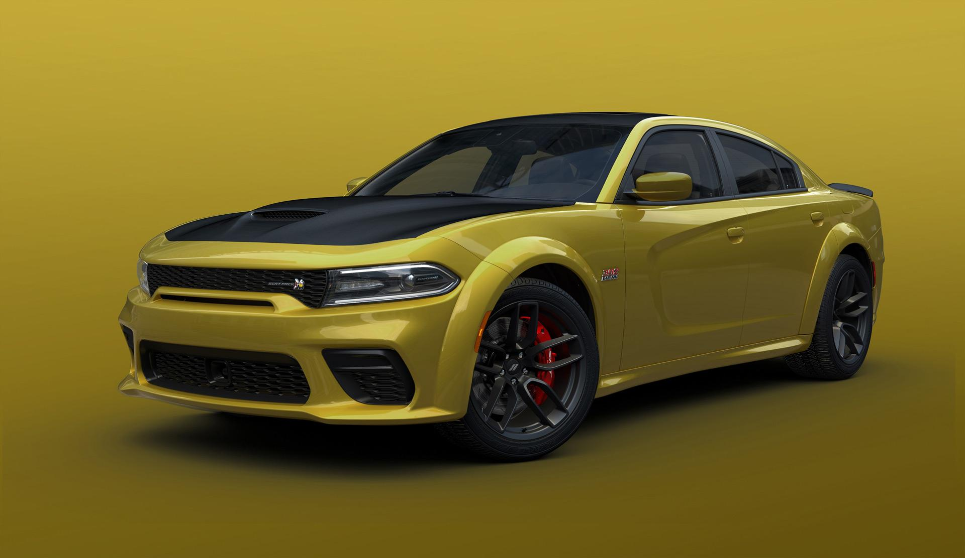 2021 dodge charger scat pack widebody in gold rush paint 100785806 h