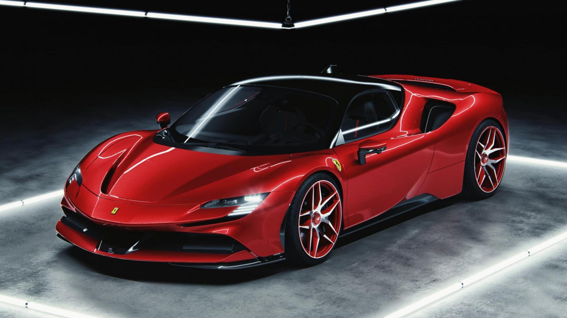 Ferrari sf90 stradale 2020 rosso corsa cam 2b hr