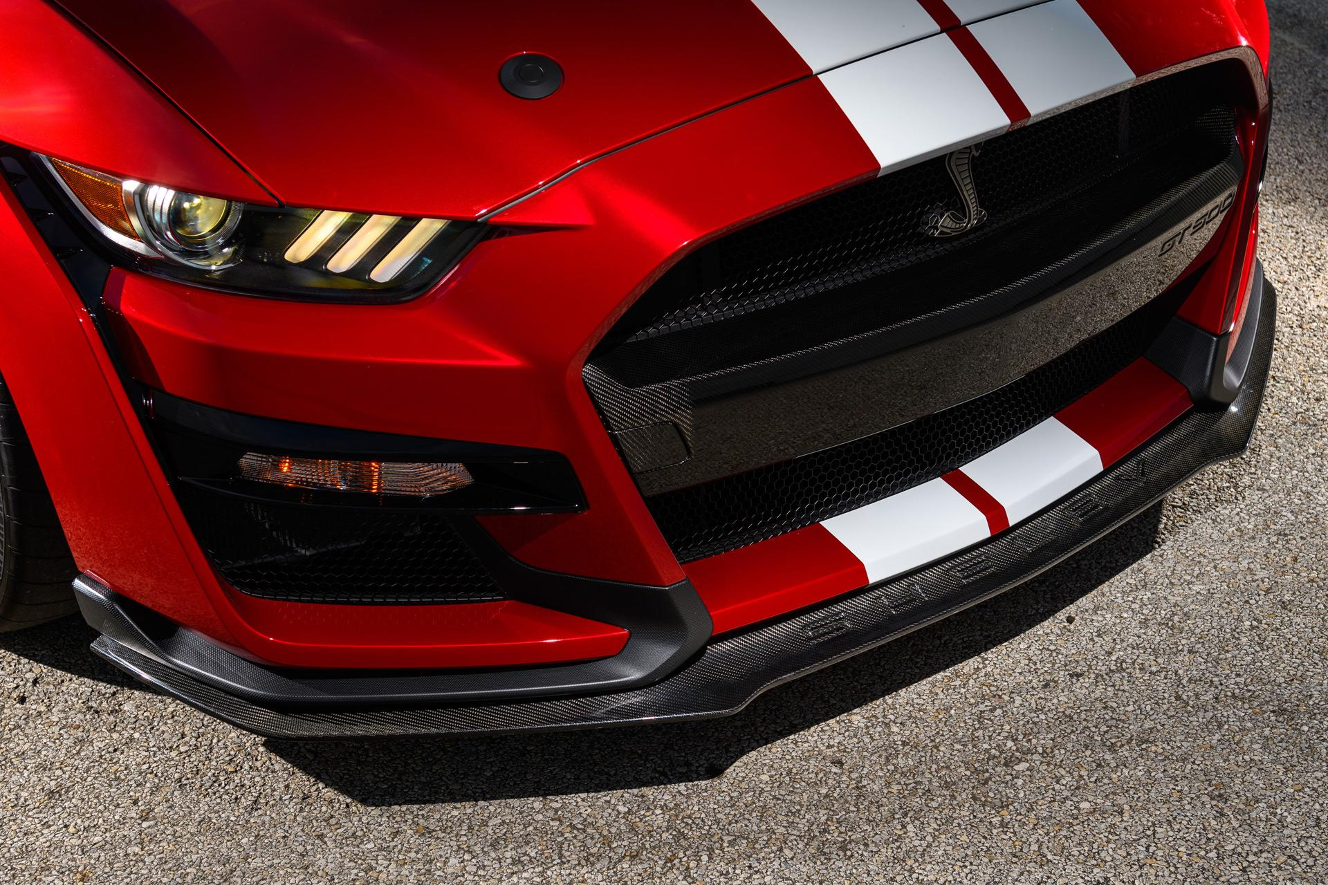 Ford mustang gt500 carbon fiber front splitter from ford performance 100789903 h