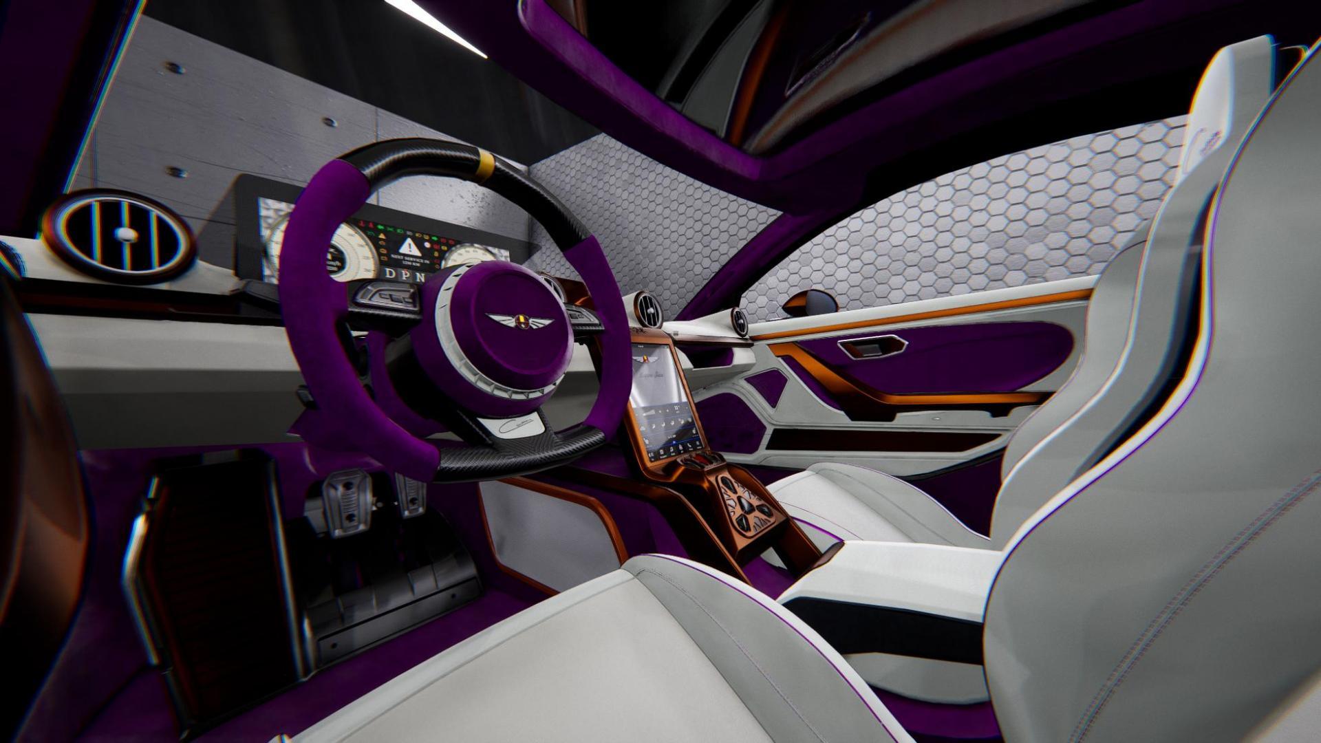 Hispano suiza carmen michael fux purple interior