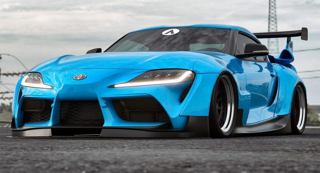 New supra wide body modified car