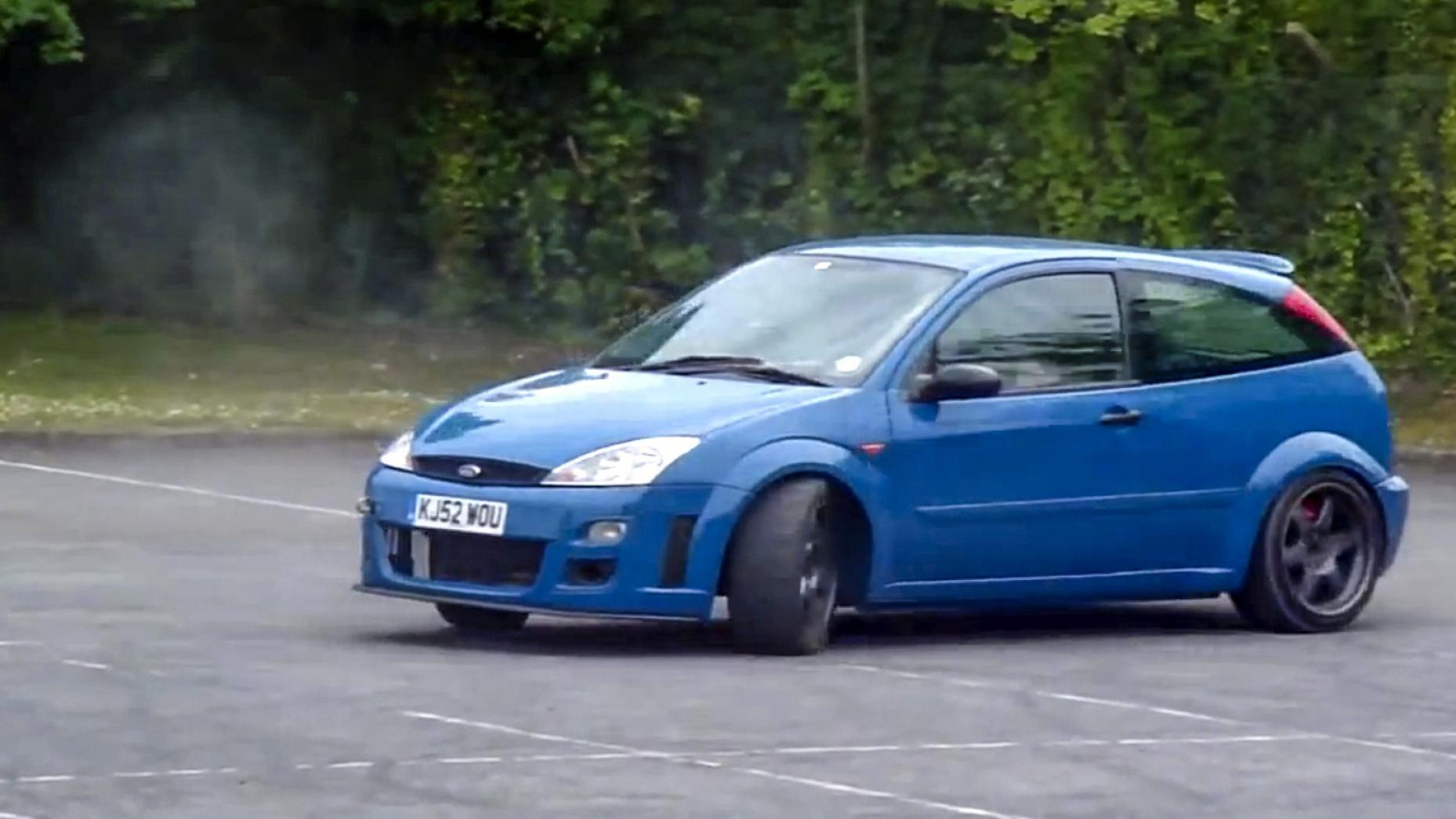 Watch a ford focus v8 rwd conversion drift its way into your heart video 89260 1 0